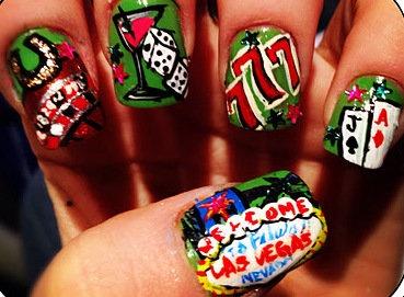 79 best las vegas casino nail art images on pinterest nail las vegas nails prinsesfo Gallery