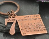 Copper gift. Personalized Copper Keychain. Copper gifts for men. Copper gifts for women. Copper anniversary. Copper. Anniversary. 7th