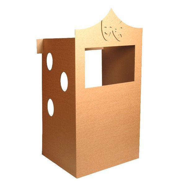 refrigerator box puppet theater  learningfromplay.co.uk