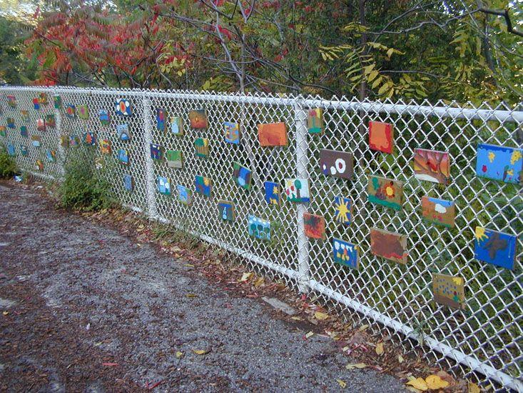 Best chain link fence art images on pinterest