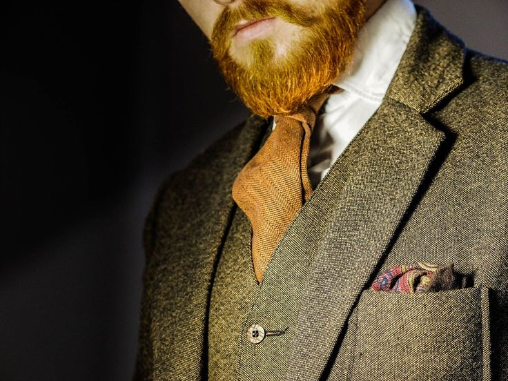 woolen pocket square and tweed for the winter