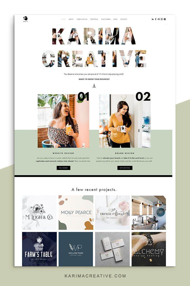 Karimacreative Bold And Colorful Website Design For A Brand Designer M Creative Website Design Inspiration Creative Website Design Squarespace Website Design