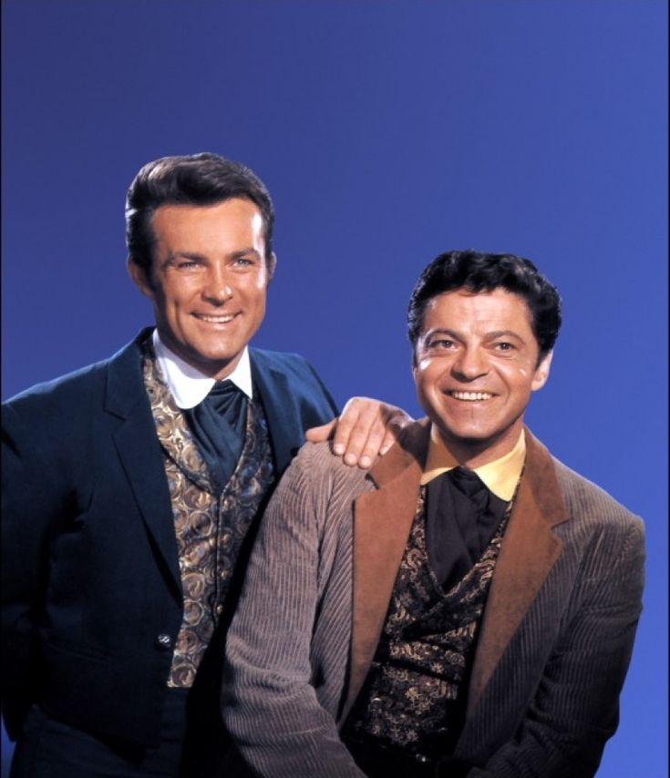 B'day celebrant Robert Conrad as James West and Ross Martin as Artemus Gordon on TVs The Wild Wild West 1965-1969