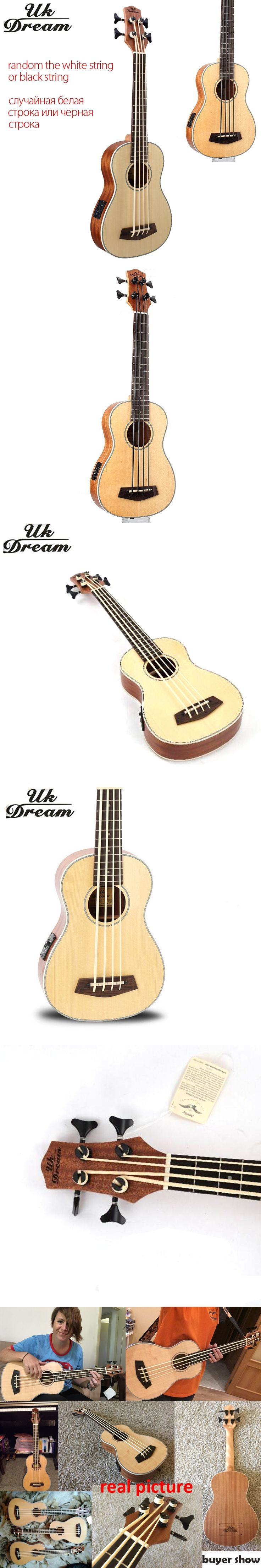 30 inch Wooden Electrica Bass Guitar 4 strings Ukulele Musical Instruments Professional Picea Asperata U Bass