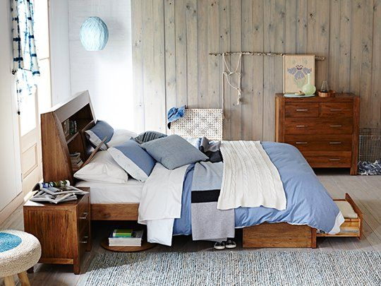 Clovelly Bed Frame: Queen Storage Bed