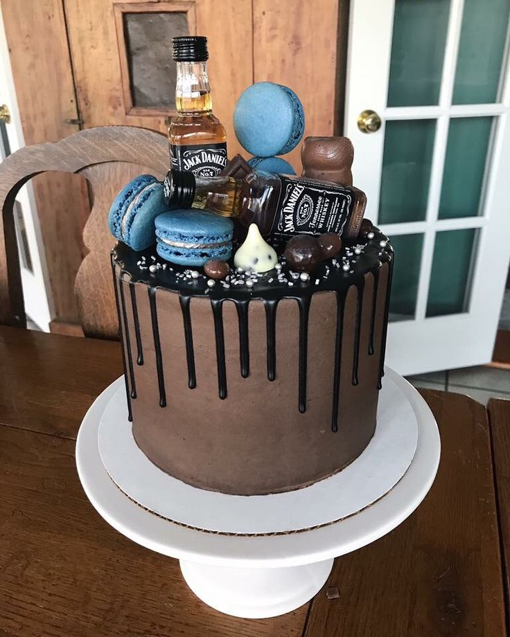Jack Daniels Drip Cake For A Boy Birthday Buttercream