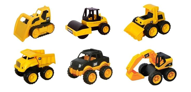 """Toy State CAT 6"""" Tough Tracks CONSTRUCTION SET Includes LOADER DUMP TRUCK EXC..."""