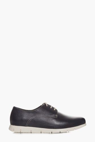 Pantofi oxford bleumarin din piele naturala 1809 -  Ama Fashion