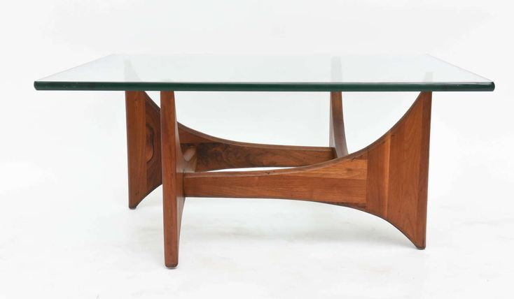 American Modern Pair of Walnut and Glass Low Tables by Adrian Pearsall 4