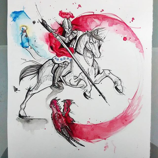 786 best st george and the dragon images on pinterest for Tattoo shops in st george