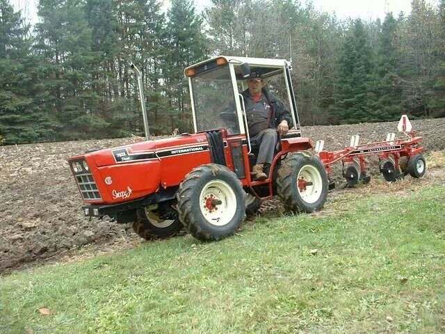 miniture ih 2x2 diesel built from cub cadet 782x plowing