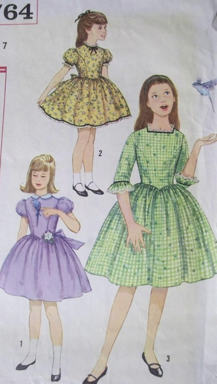 VINTAGE SEWING PATTERN~GIRLS DRESS DRESS~SIZE 7~ | eBay