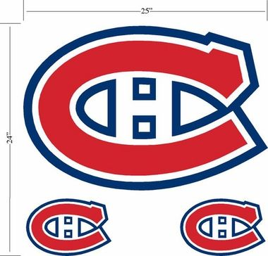 Montreal Canadiens Wallmarx Large Wall Decal