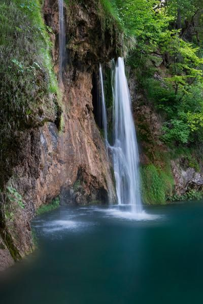 Waterfall at National Park Plitvice Lakes. See more photo at www.bastianlinder.de
