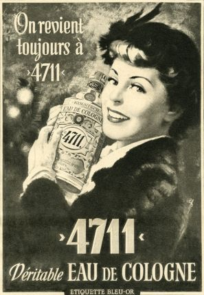 Reclame voor Eau de Cologne 4711 uit 1950 #nostalgie