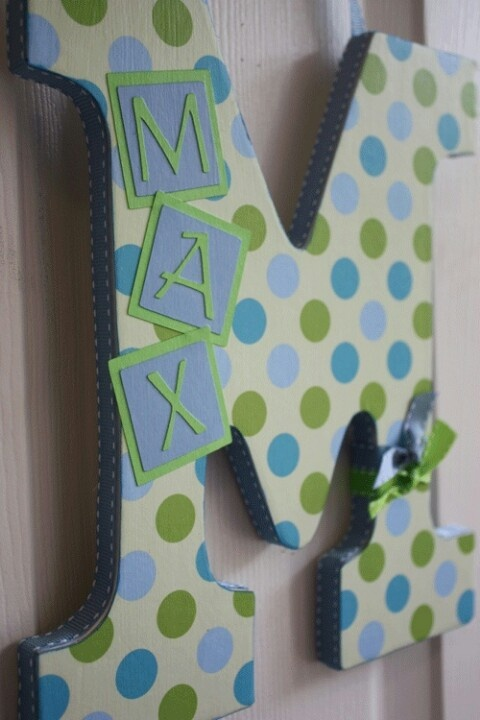 Great Baby gifts #DrinkPremama... Like this idea with a metal initial and vinyl letters too!