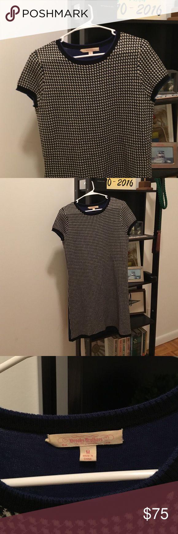 Brooks Brothers wool dress Barely worn Brooks Brothers wool herringbone shirt sleeved dress Brooks Brothers Dresses Midi