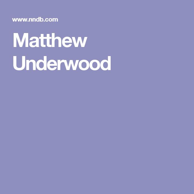 Matthew Underwood