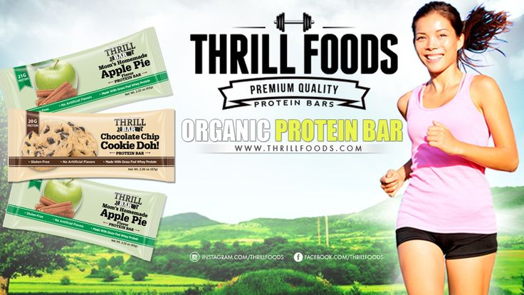 Organic Protein Bars made with Grass-Fed Whey Protein. Gluten-Free • Non-GMO Ingredients • No artificial sweeteners!