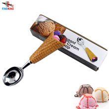 FINDKING 1 pcs DIY Résine Poignée En Acier Inoxydable Crème Glacée Cuillère de crème Glacée cuillère de crème Glacée piles fruits Cuillère(China (Mainland))