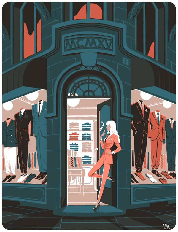La parisienne by Vincent Mahé, via Behance