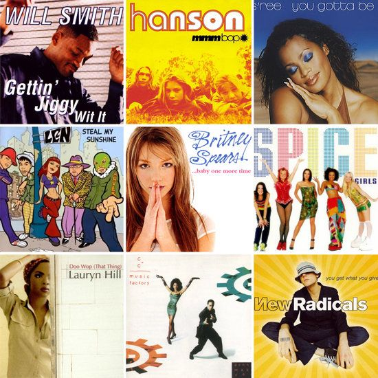 Take a trip down memory lane with your guests by jamming to some '90s pop hits from musicians like Will Smith, Hanson, Britney Spears, Spice Girls, and New Radicals. You could even gift your guests a sweet mix CD with your favorite '90s songs.