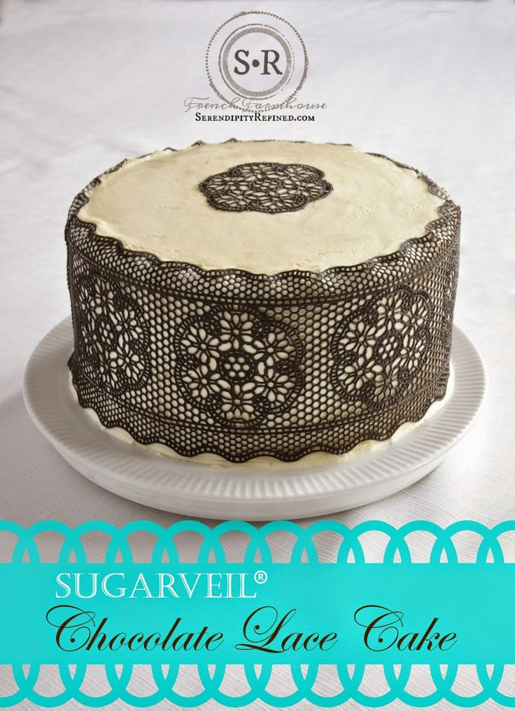 Lace For Cake Decorating : Best 25+ Chocolate lace cake ideas on Pinterest ...