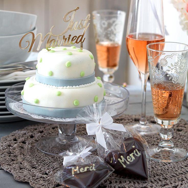 Wedding Inspiration | Dekopick Just Married Metall silber ca L:14 cm | Depot Online