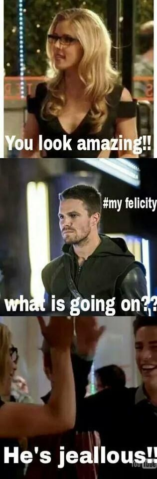Just watched the season premiere of the arrow and oliver admits he loves Felicity!! :)