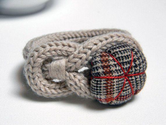 Maglia di lana color tortora Bracciale Noemi cuciti a di ylleanna