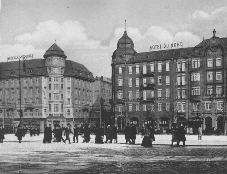 Skrzyżowanie ulic Gartenstr. (Piłsudskiego) i Neue Taschenstr (Kołłątaja) przed wojną.Lata 1920- 1945