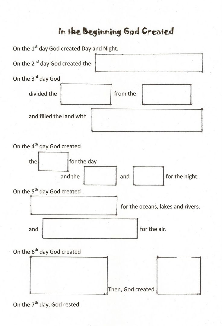 Worksheets Bible Worksheets For Preschoolers 55 best 0 mfw beginning creation images on pinterest worshiping with children days of fill in the blank worksheet