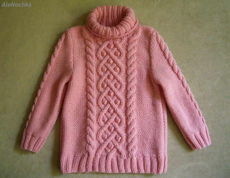 2Мои работы девочкам: кофты, свитера, туники, платья, комплекты Розовый свитер