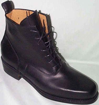 Ladies High-Top Lace-Up Shoes - Black. Victorian & Civil War
