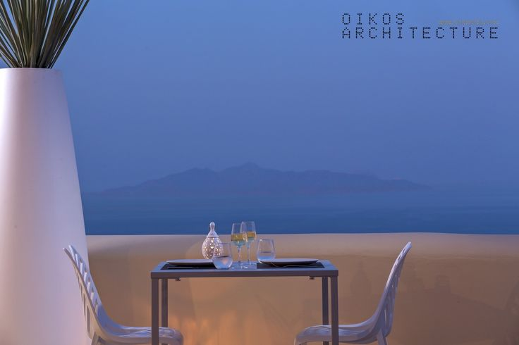 private suites, pyrgos, santorini, restaurant, amazing view, outdoor detail,dinning table