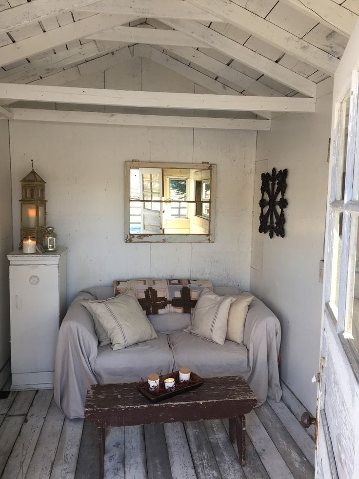 She Shed Shed Interior Shabby Chic Patio Shed Decor
