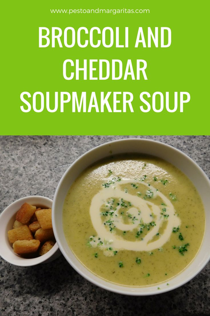 Broccoli is often paired with stilton in soup but we decided to try cheddar instead. This soup recipe is designed for a soup maker and is a tasty yet simple recipe for a light meal or lunch. Click to find out how to make it