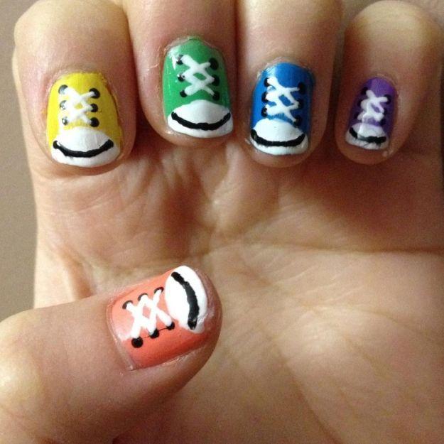 Кеды на ногтях ::: onelady.ru ::: #nail #nails #nailart #manicure