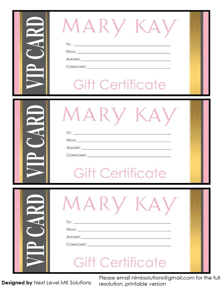 37 Best Mary Kay Gift Certificates Images On Pinterest | Gift