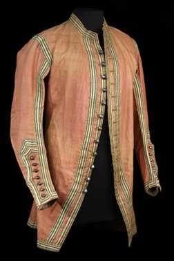Men's jacket,1700 - 1725, Netherlands, silk(?)      Dit object is nu niet in het museum te zien    De gegevens van dit object zijn niet recent gecontroleerd