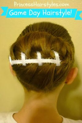 The super bowl is coming up and let's say you don't know what to do with your hair! BAM make a football!!