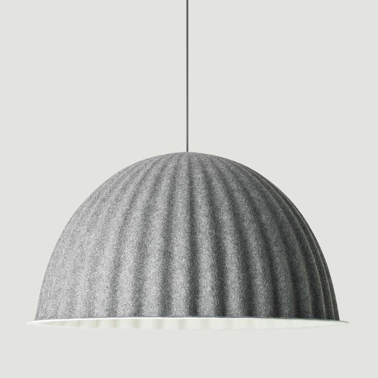 Muuto Under The Bell Pendant - ex display: Under The Bell is a large lamp that creates a new space within a space whether hung over the dining room table or on the ceiling. It's eye-catching design can also help to absorb noise and improve the acoustics in large rooms. Designed by Iskos-Berlin, Under The Bell creates a sense of shelter and adds a strong statement to any setting.