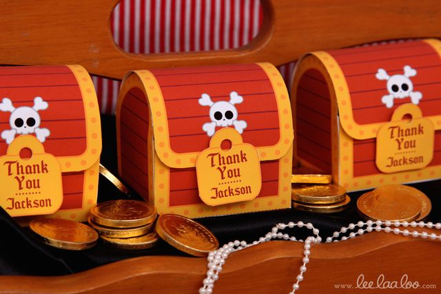 What fun favors at a Pirate party! See more party ideas at CatchMyParty.com! #partyideas #pirate