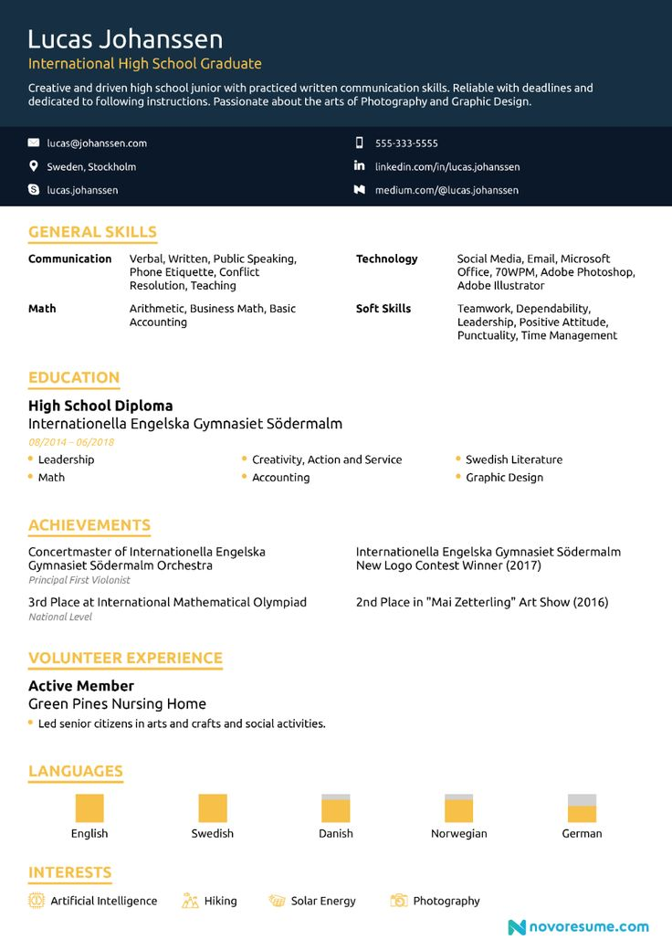 High school resume howto guide for 2020 11 samples