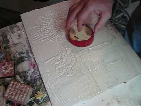 Making the textures for my textured paintings using joint compound