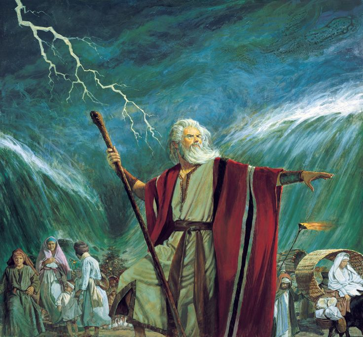 Moses Leads the Israelites out of Egypt and parts the Red Sea. Description from mormonbeliefs.org. I searched for this on bing.com/images