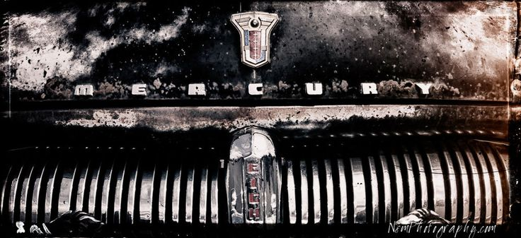 12x18 in. Mercury Grill Hot Rod Poster Pinstriped Vintage Garage Art Man Cave