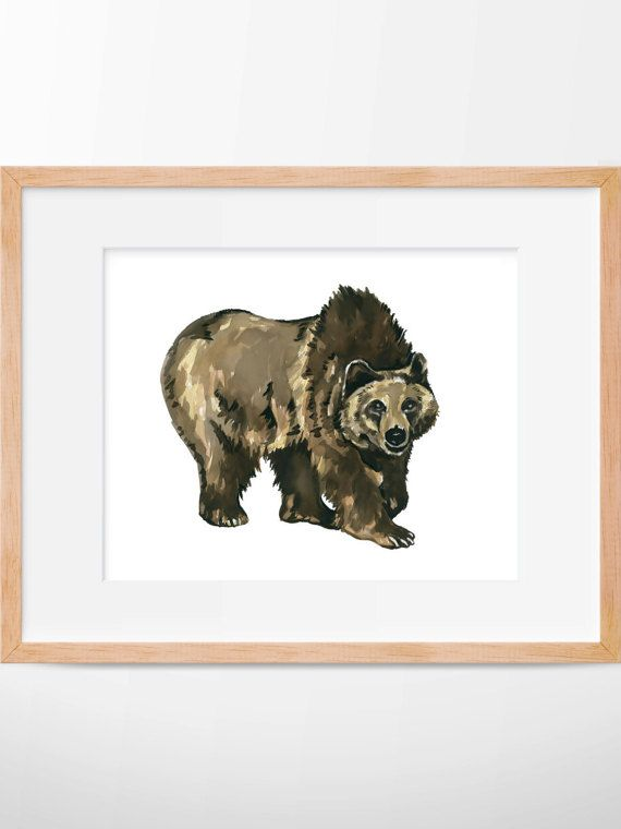 B2G1 Grizzly Bear Print Grizzly Art Grizzly Bear by HippieHoppy