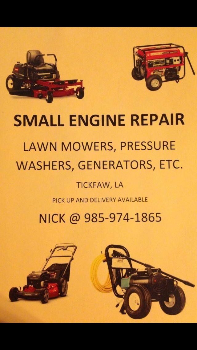 Small engine repair small engine repair pinterest for Small motor repair shop
