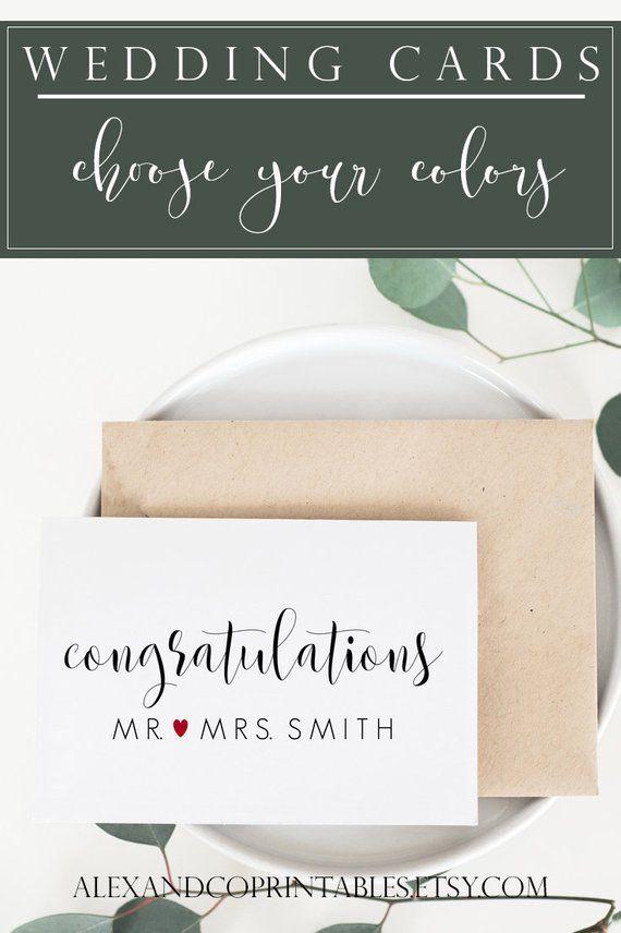 Personalized Wedding Card Wedding Card Congratulations